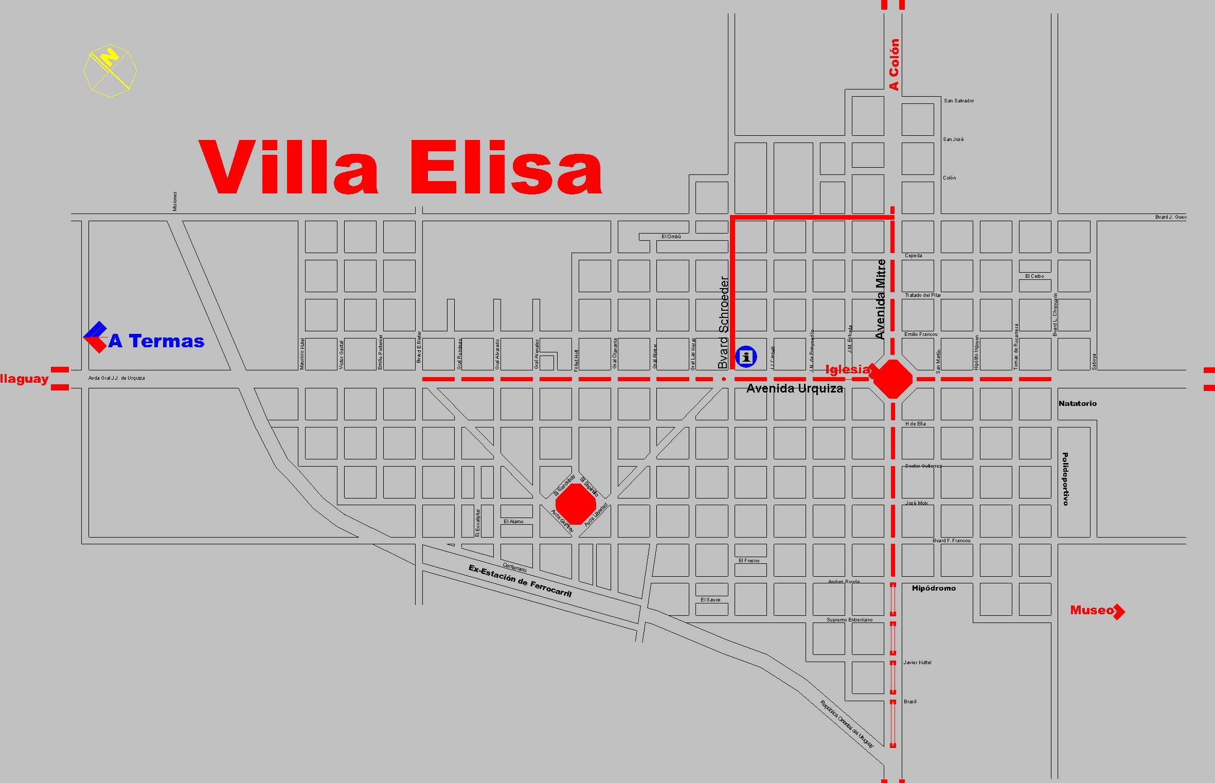 Plano De Villa Elisa Entre Rios Mapas Rutas
